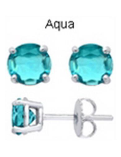 Tachyonized 5mm Aqua Stud...